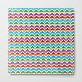 Geometric Shape 2 (Color Waves) Metal Print