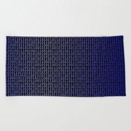 Binary Blue Beach Towel