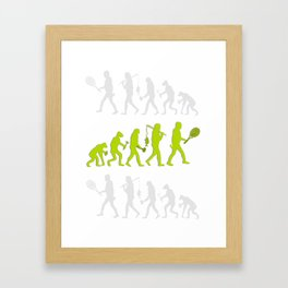 Evolution of Tennis Species Framed Art Print