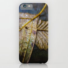Water on a fall leaf  iPhone 6s Slim Case