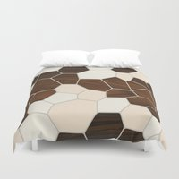 geode Duvet Covers featuring Geode in Cream by jefdesigns