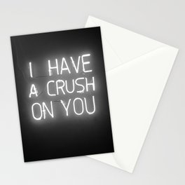 I Have a Crush on You (Black and White) Stationery Cards