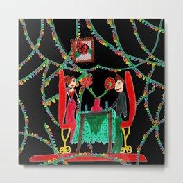 Christmas Dinner   Kids Painting Metal Print