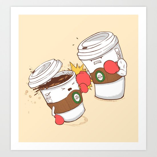 Strong Coffee Art Print