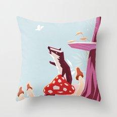 Good morning mister butterfly! Throw Pillow