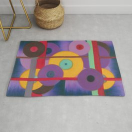 Vinil Discotheque, Abstract pastel painting Rug