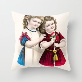 Mamas Darlings Throw Pillow