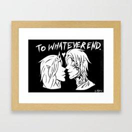 To Whatever End Framed Art Print