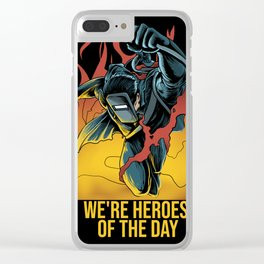 Welder Heroes Clear iPhone Case