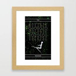 A Tarot of Ink 07 of Wands Framed Art Print
