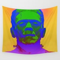 frank Wall Tapestries featuring Frank  by Nikki Hung