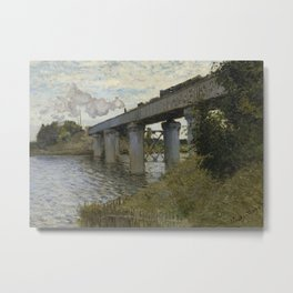 The Railroad bridge in Argenteuil Metal Print