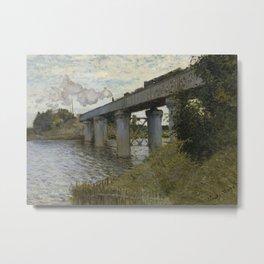 The Railroad bridge in Argenteuil Metal Print