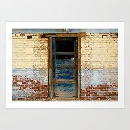 Broken Blue Door Art Print
