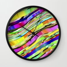 Layered Rainbow Wall Clock