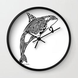 Tribal Orca Wall Clock