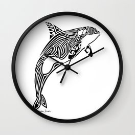 Tribal Orca Wall Clock