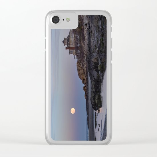 Full moon at Good Harbor Beach Clear iPhone Case