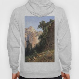 North Dome Yosemite Valley 1870 By Thomas Hill | Reproduction copy Hoody