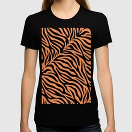 Modern abstract tiger skin illustration pattern T-shirt
