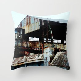 """Old Sugar processing plant """"Coloso"""" 6 @ Aguada Throw Pillow"""