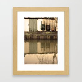 Door and Barrows Framed Art Print