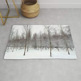 tree patterns in the snow Rug