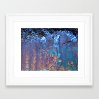 ice Framed Art Prints featuring Waterfall  by Lena Weiss