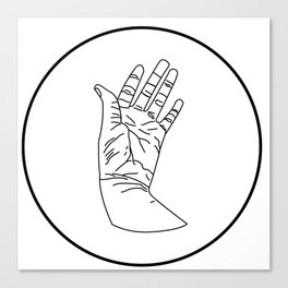 wrinkly hand Canvas Print