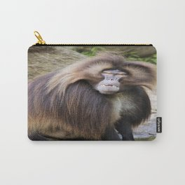 Baboon Looking At me Carry-All Pouch