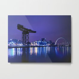 The River Clyde At Night Metal Print