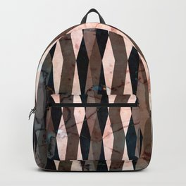 Peachy marble (full view) Backpack