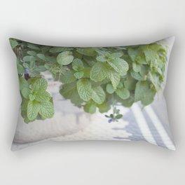 Downtown Flower Pot Rectangular Pillow