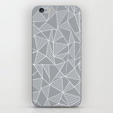 Abstraction Lines Grey iPhone Skin