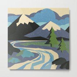 Snow on the mountain Metal Print