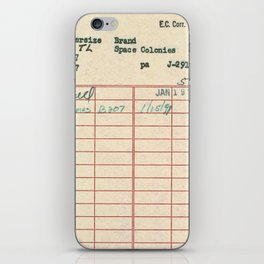 Library Card 797 iPhone Skin