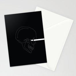 LINE #Skull (Dark) Stationery Cards