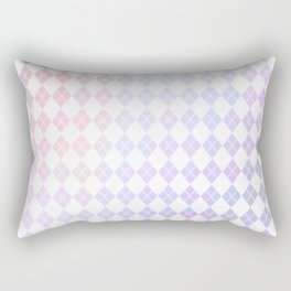 Geometrical pink violet white watercolor abstract diamonds Rectangular Pillow