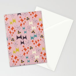 Deviled Starbursts Pink Stationery Cards