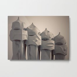 Gaudi's Chimneys Metal Print