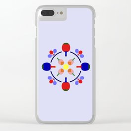 Table Tennis Design Clear iPhone Case