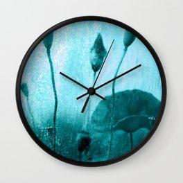 Poppy Art Image Wall Clock