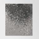 Silver Gray Glitter #1 #shiny #decor #art #society6 by anitabellajantz