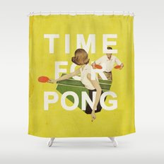 Time For Pong Shower Curtain