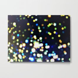 Twinkly starry night texture Metal Print