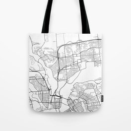 Gatineau Map, Canada - Black and White Tote Bag