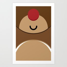 Bear xmas icon Art Print