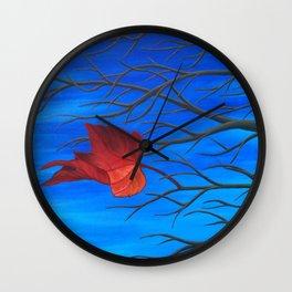 The Last Leaf on the Tree Wall Clock
