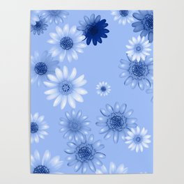 Multicolored natural flowers 16 Poster