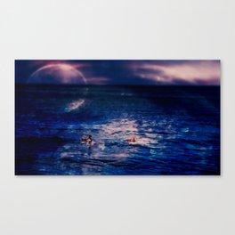 night time swim Canvas Print
